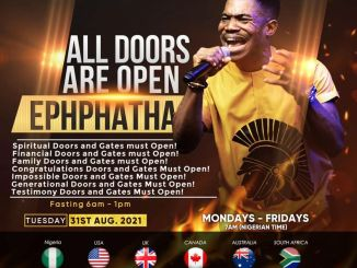 NSPPD Live 31 August 2021 with Pastor Jerry Eze