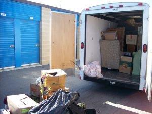 truck infront of self-storage in Boston