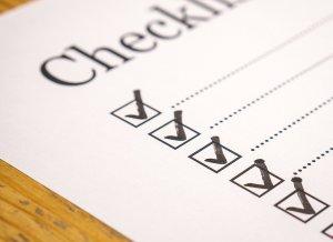 a blank checklist