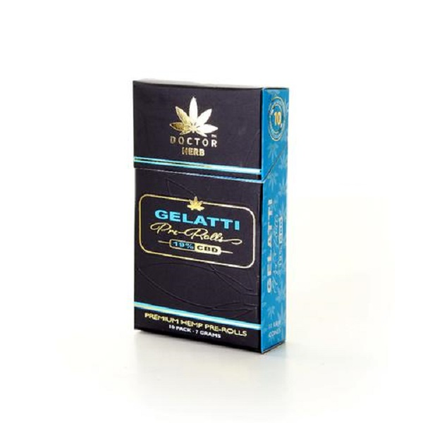 GELATTI HEMP PRE-ROLLS 10 PACK – 19% CBD – 7 GRAMS
