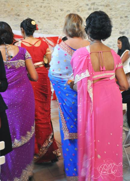 Saris multicolores