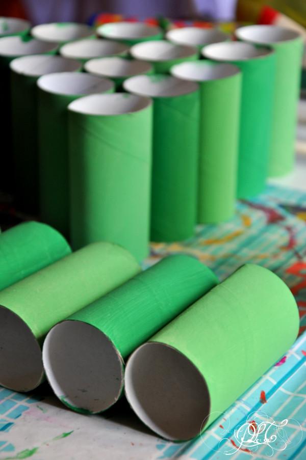 Prendre le temps - calendrier de l'avent - sapin - rouleaux de papier toilette - récup