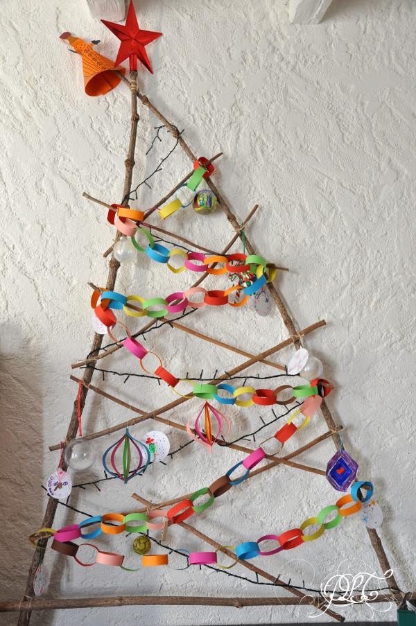 Prendre le temps - Sapin de Noël fait maison - DIY - récup'