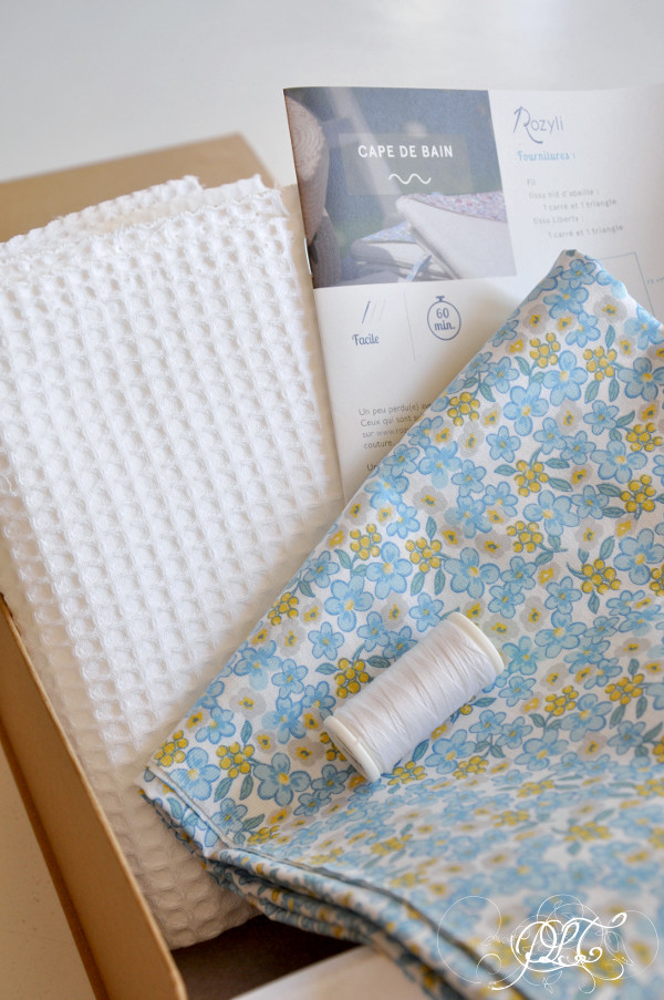 Prendre le temps - Cape de bain - projet couture - test box Rozyli
