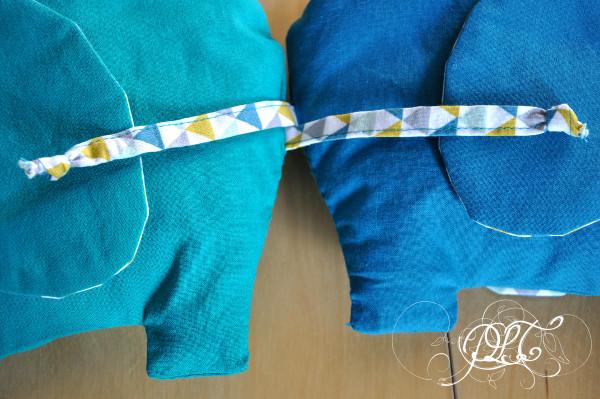 Prendre le temps - Éléphants jumeaux - couture