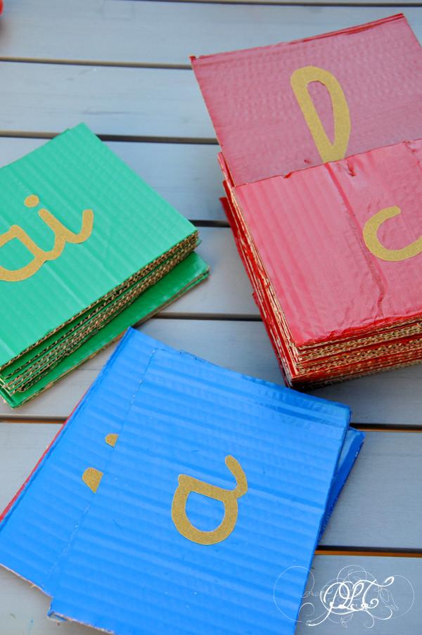 Prendre le temps - Lettres Rugueuses - Montessori - apprentissage langage écriture lecture