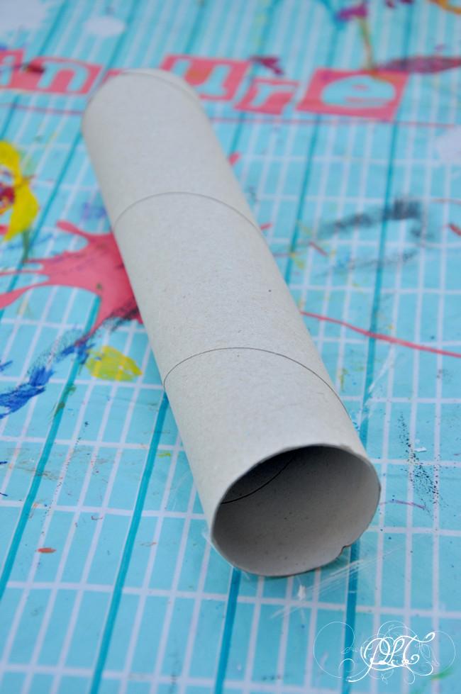 Prendre le temps - Anniversaire Pirate - Longue-vue en carton - rouleaux de papier toilette