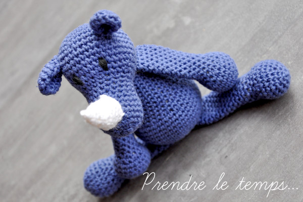 Prendre le temps - Crochet - Rhinocéros Bleu