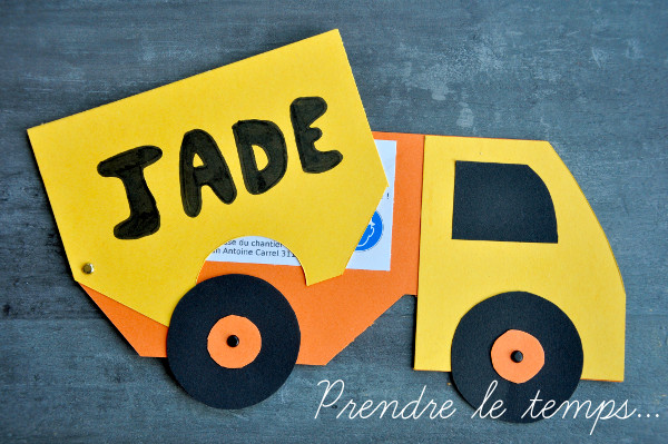 Prendre le temps - Anniversaire Chantier de Construction - Invitation - carterie - scrapbooking