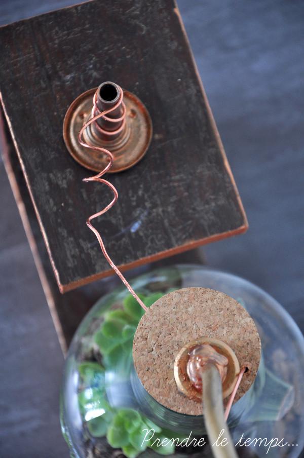 Prendre le temps - Challenge Oui Are Makers - Terrarium de laboratoire - steampunk - #OuiAreMadTeam #ChallengeOuiAreMakers