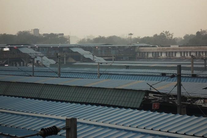 Une des gares de Delhi