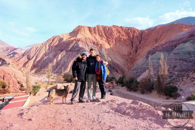 Les montagnes aux 7 couleurs, et notre chien