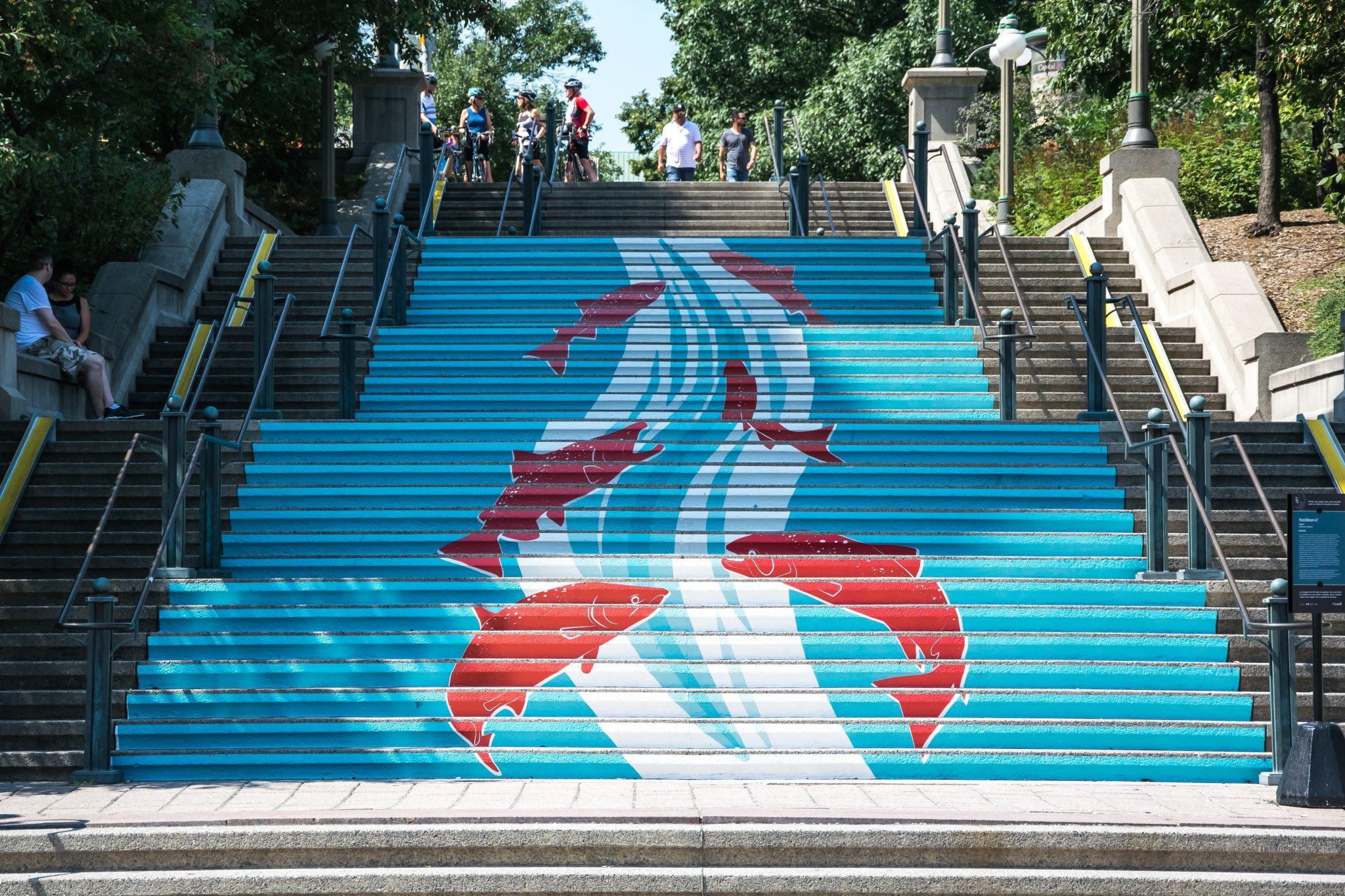escalier poisson