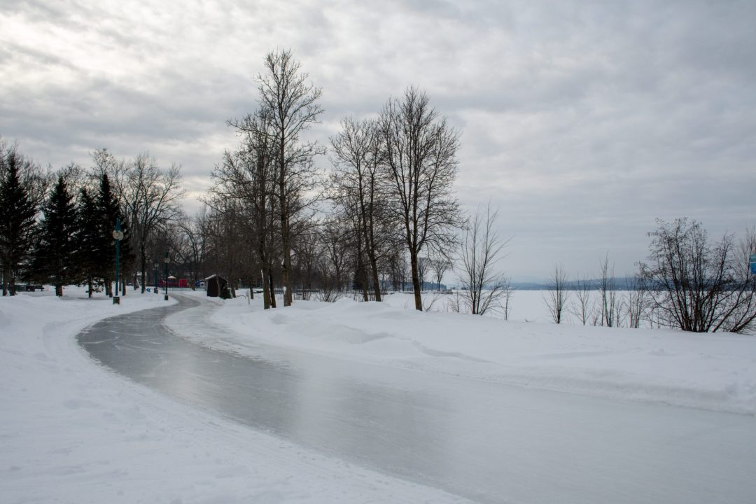 sentier glacé magog hiver