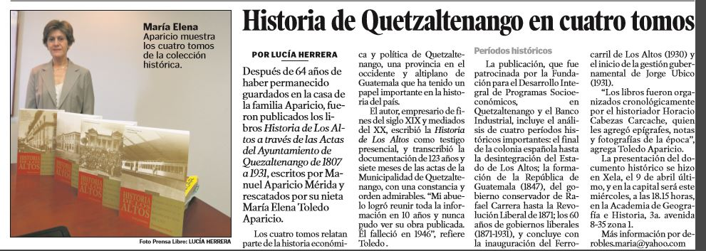 """5 Motivos Para Leer """"Historia De Los Altos"""", Una Edición"""