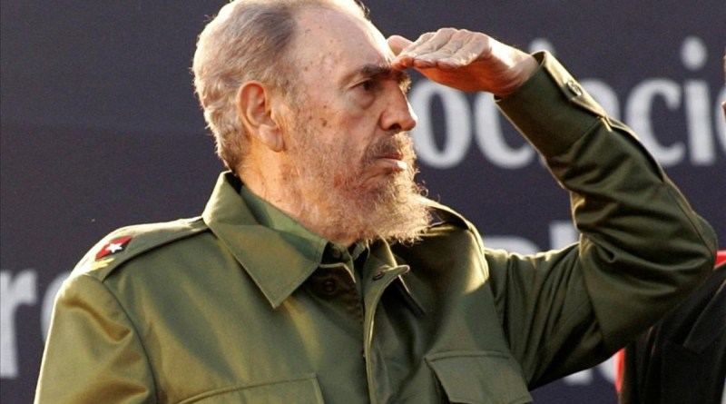 Cuba s President Fidel Castro looks at the crowd during a mass rally in Cordoba  Argentina July 21  2006     REUTERS Andres Stapff File Photo