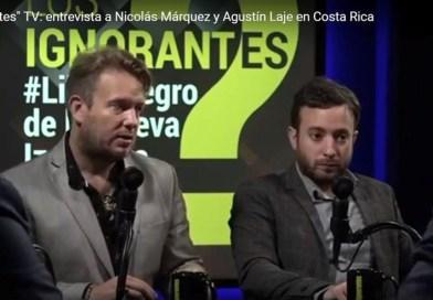 """""""Los Ignorantes"""" TV: entrevista a Nicolás Márquez y Agustín Laje en Costa Rica"""