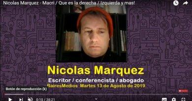 Elecciones/derecha/Izquierda y mas! Nota a Nicolás Márquez