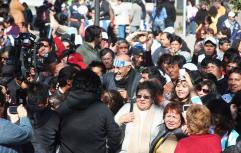 Los municipales entraron marchando a la plaza