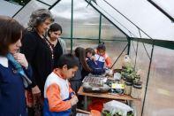 Alcaldesa Virginia Reginato, certificación ambiental escuela S. Allende, 2