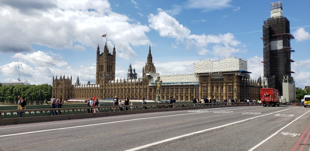 Palace of Westminster under renovation