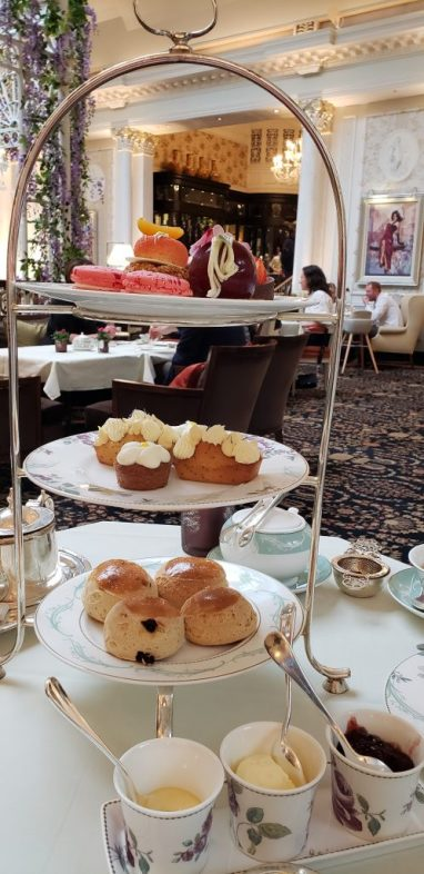 Assortment of Afternoon Tea scones, pastries and cakes
