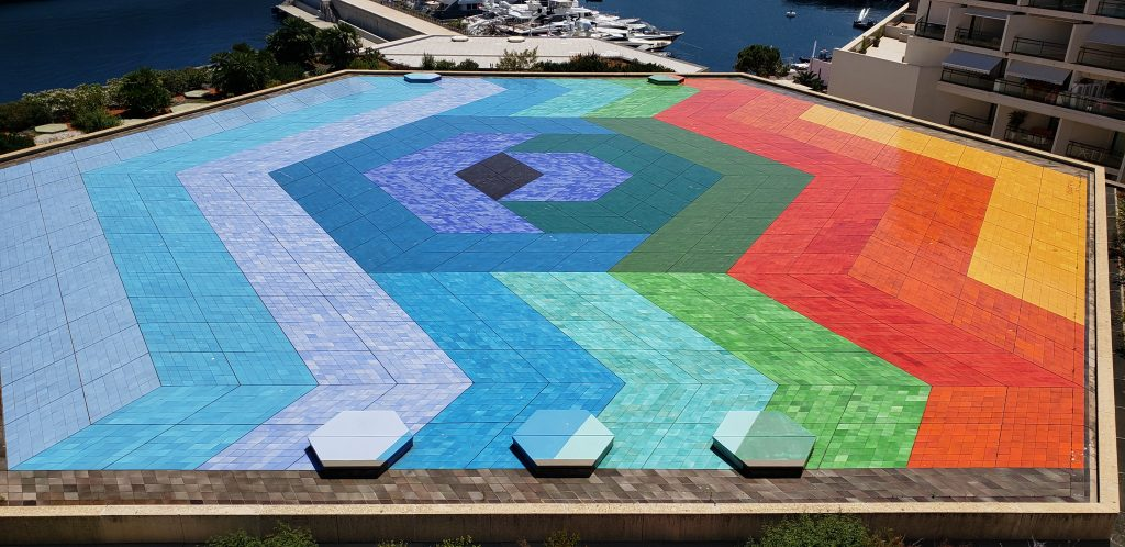 colorful helipad