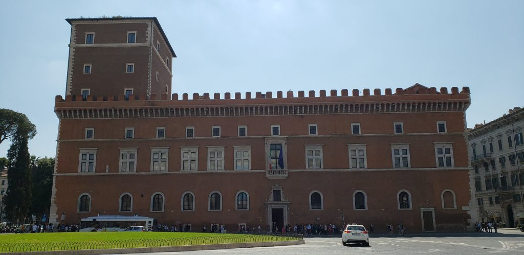 Balcony over the Piazza Venezia