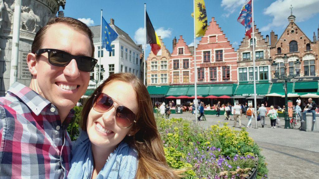 The Markt square in Bruges