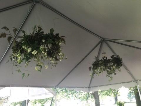 rain tent chandeliers