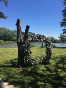 Farmington Lake vintage garden wreath
