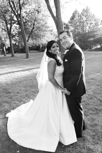 Wedding couple celebrating an anniversary