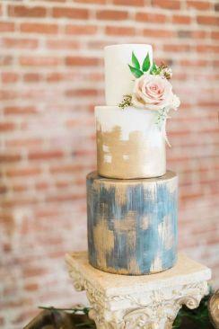 brushstroke wedding cake 2