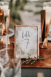 Copper table number frames