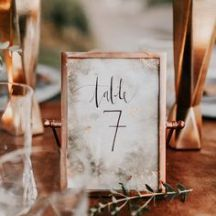 Copper table number frames