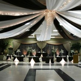 Dramatic geometric shape dance floor