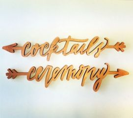 Laser cut wedding signs