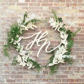 laser cut wreath