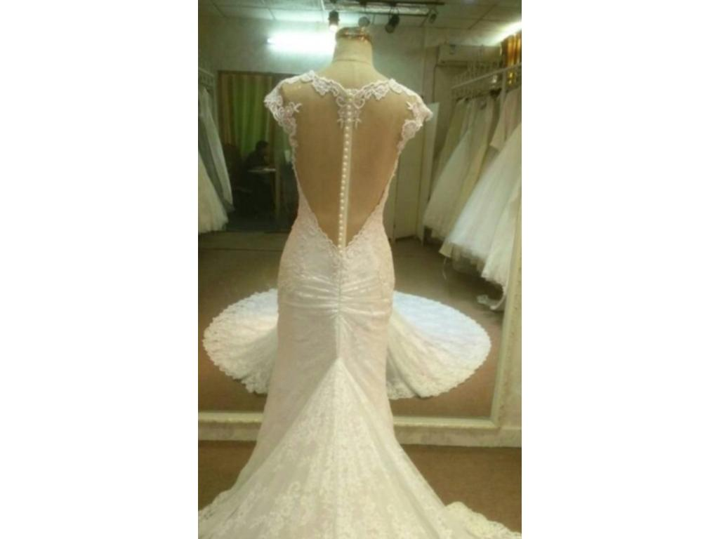 Inspired Gowns Cap Sleeve Lace Wedding Dress By Darius