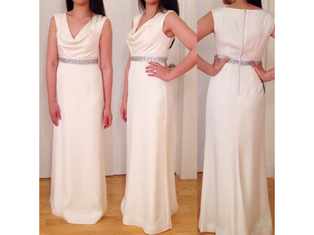 Ann Taylor MYA COWL NECK WEDDING GOWN, $250 Size: 00