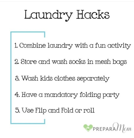 Laundry Hacks for prepared parents