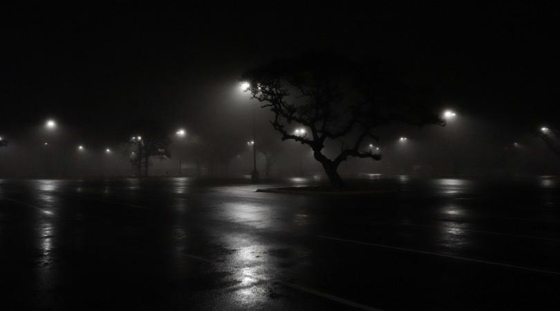 A dark parkinglot
