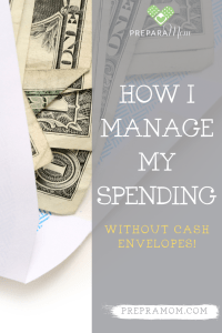 Pin image for How I Manage My Spending Without Cash Envelopes