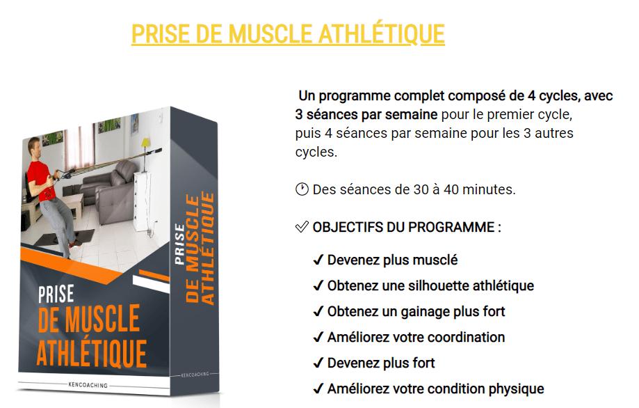 Prise de muscle athlétique