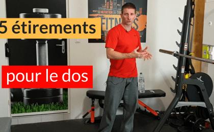 exercices de stretching pour le dos
