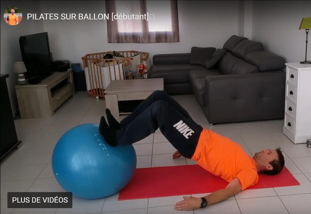 Faire du Pilates débutant sur ballon – Séance 2/3