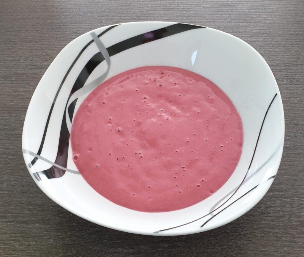 Préparation du smoothie bowl