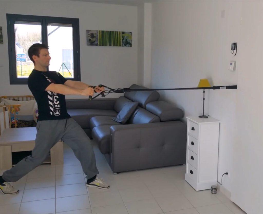 exercices dos elastiques