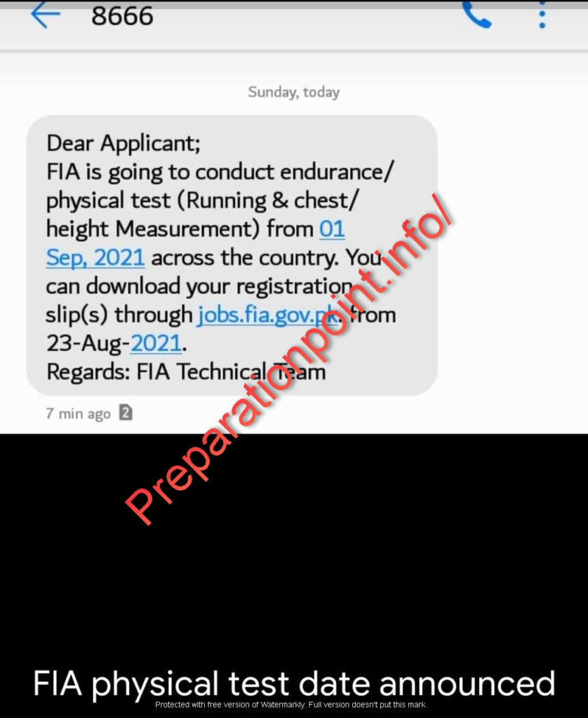 FIA Written Test Slip 2021 [PDF]- jobs.fia.gov.pk roll number slip