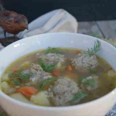 Nourishing Porcupine Meatball Soup